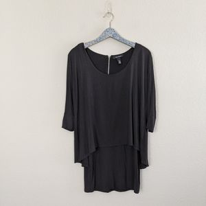 White House Black Market Tiered Layered Tunic Top